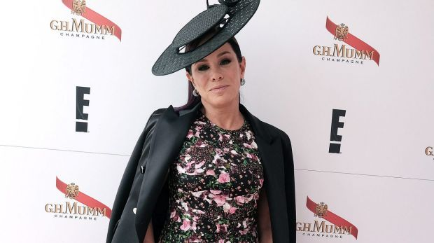 TV Personality Melissa Rivers poses at the Mumm Marquee on Melbourne Cup Day at Flemington Racecourse on November 3, 2015.