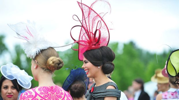Emily Hill of Murrumbateman takes part in Fashions on the Field at Thoroughbred Park.