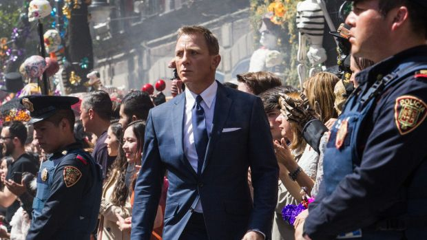 Daniel Craig in <i>Spectre</i>, his fourth time as 007.
