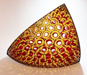 Canberra Glassworks' creative fellow Matthew Curtis is hoping to woo the US glass market with his pieces at the ...