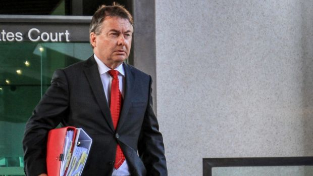Former Solicitor-General Walter Sofronoff QC leaves the Brisbane Magistrates Court