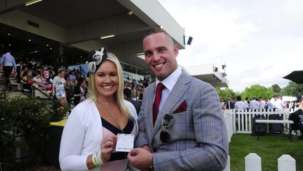 Dan Posch and wife Tracey, both of Latham, were big winners at the Melbourne Cup Day at Thoroughbred Park in Canberra.