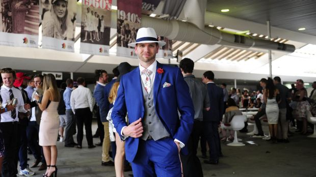 Chris Rankin winner of the men's fashions on the field at Thoroughbred Park in Canberra for Melbourne Cup Race Day. 3rd ...