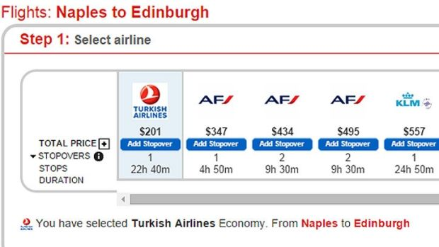 The surge pricing meant he could have flown from Sorrento in Italy to Perth in Scotland [via their closest airports] for ...
