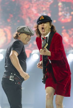 See ya Brian ... Angus Young and Brian Johnson.