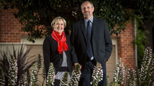 Downsizing apartment buyers Steve and Sharon Cook in Melbourne.
