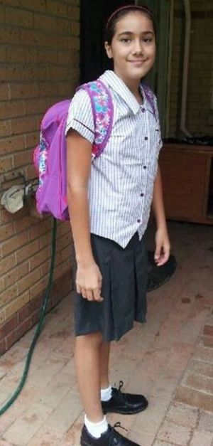 This image of Tiahleigh Palmer was released in the search for the schoolgirl.