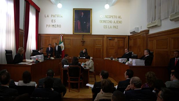 Mexico Supreme Court Justices discuss  on Wednesday a challenge to the constitutionality of a ban on recreational ...