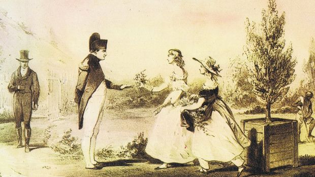 The Balcombe sisters meet Napoleon at The Briars, St Helena.