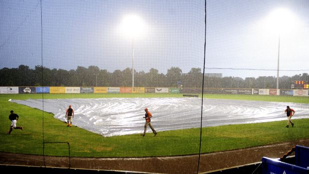 Blame it on the rain - the Canberra Cavalry-Sydney Blue Sox game was washed out and will be replayed on Saturday at 4pm.