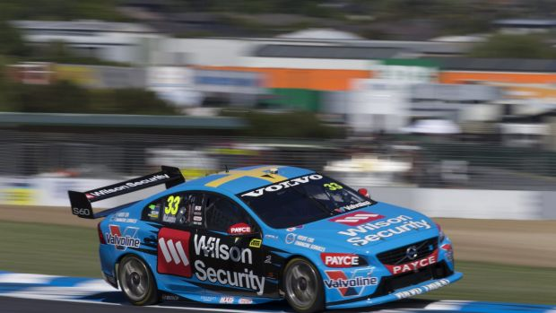 Scott McLaughlin in action at practice on Friday.