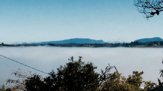Another view of the fog in Lismore.