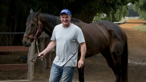 Melbourne Cup winning trainer Darren Weir at his training facility in Miners Rest.