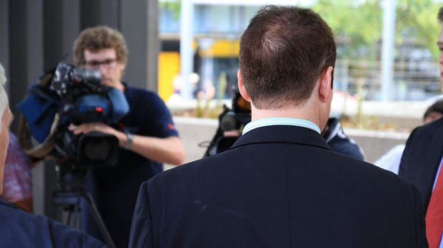 The witness known as BQA talks to media outside the Brisbane hearings of the Royal Commission in to Institutional ...