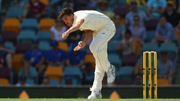 Wrecking ball: Mitchell Starc claimed two scalps.