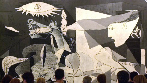 "Foreign air forces: Pablo Picasso's world famous painting ""Guernica"" depicts the German bombing of this small Basque ..."