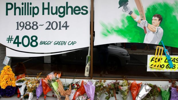 Tributes for Hughes in his hometown of Macksville after his death.