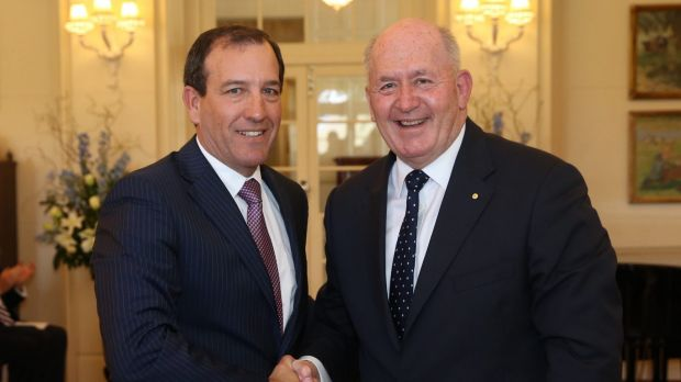 Mal Brough is sworn in as Special Minster of State  by Governor-General Sir Peter Cosgrove in September.