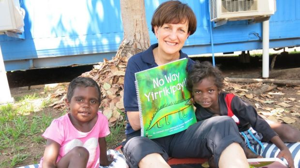 Suzy Wilson, founder of the Indigenous Literacy Foundation at the launch of No Way Yirrikipayi!, a book written and ...