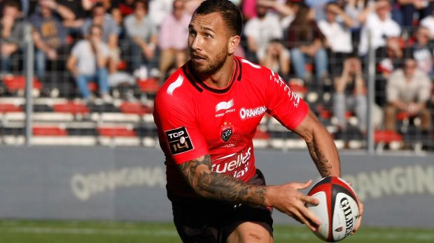 Let the games begin: Quade Cooper in action during his debut for Toulon after the 2015 World Cup.
