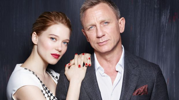 Lea Seydoux and Daniel Craig, pictured for Spectre.