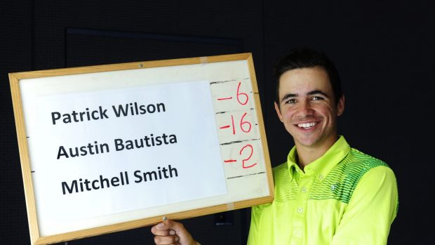 Austin Bautista with his leaderboard.