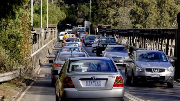 The Chandler Highway bridge over the Yarra, built in 1890 for trains, now carries 44,000 cars a day. VicRoads wants a ...