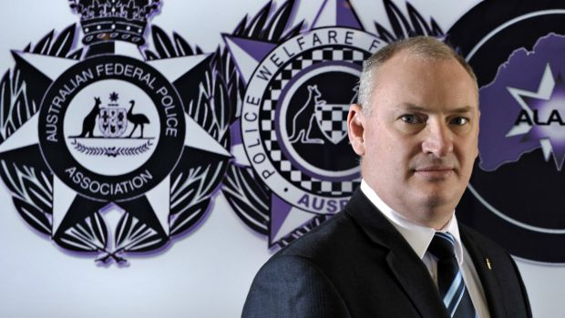 Australian Federal Police Association president Jon Hunt-Sharman served his final day on Friday.