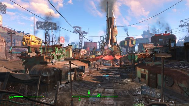 Fenway Park has been transformed into Diamond City, one of the game's main hubs.