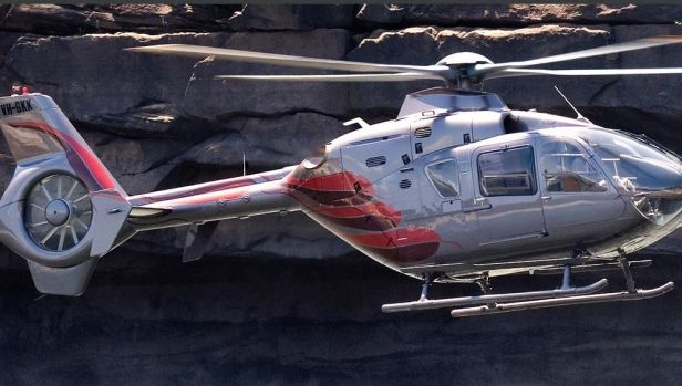 """My pride and joy"": the EC135 operated by Richard Green."