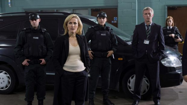 Gillian Anderson as Detective Superintendent Stella Gibson in <i>The Fall</i>.