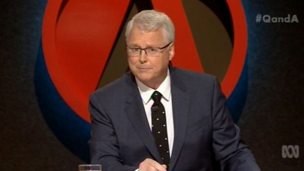 Q&A host Tony Jones grilled Environment Minister Greg Hunt on the prime minister's approach on 2015's final episode.