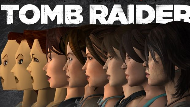 The in-game faces of Lara Croft, from the original in 1996 to the reboot version in 2013.