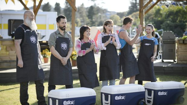 Contestants in Aussie Barbecue Heroes have to undergo challenges using different pieces of equipment.