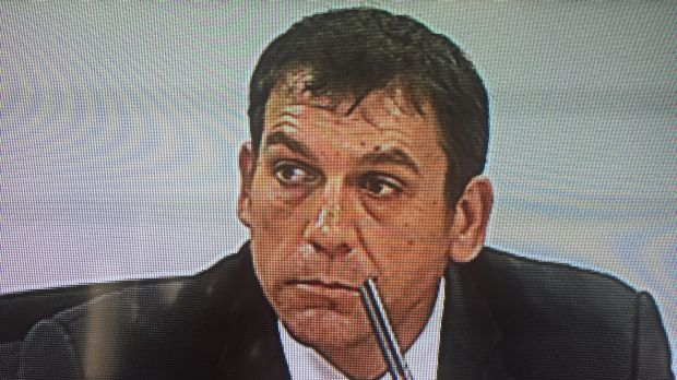 Derrick Belan at the unions royal commission on Tuesday.