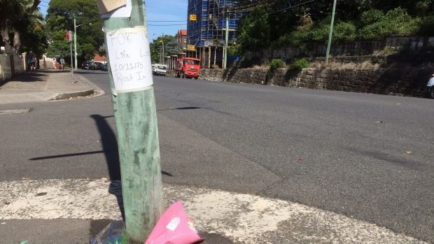 Flowers placed at the scene.