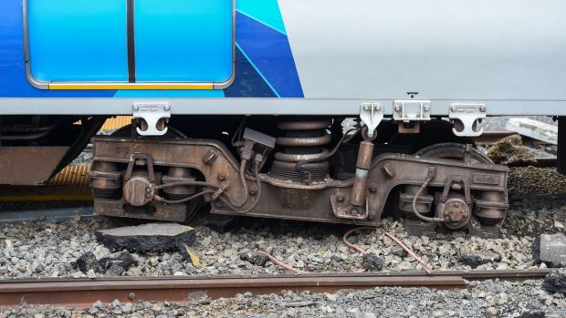 "The stolen train hit a ""derail block"" which is designed to stop out-of-control rolling stock."