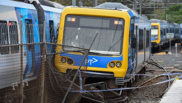 A train at Hurstbridge station was derailed in November.