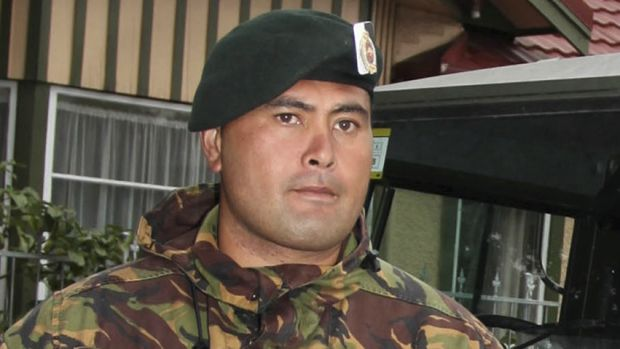 Lance Corporal Ngati Kanohi Haapu during recovery operations after the Christchurch earthquake, 2011.
