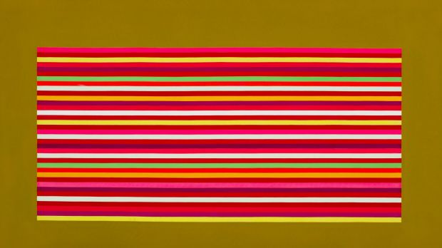 """''Outer Spice'' (1969) by David Aspden in """"Birth of the Cool"""" at the ANU Drill Hall Gallery."""