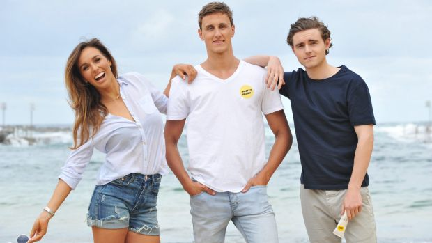 Sally Fitzgibbons, Cameron McEvoy and Callan McAuliffe are spreading the word to be smart in the sun this summer.