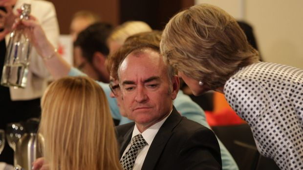 Liberal MP Julie Bishop pictured with her chief of staff Murray Hansen.