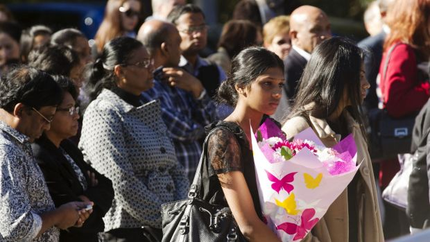 Mourners at the funeral in May of Myuran Sukumaran, who was convicted in Indonesia of drug trafficking and executed.