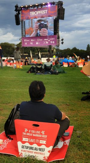The early crowd at the festival in Centennial Park last year.
