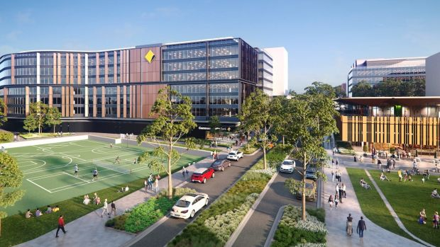 Parramatta pull-out: An artist's impression of the Commonwealth Bank's new buildings due for completion in 2020 at ...