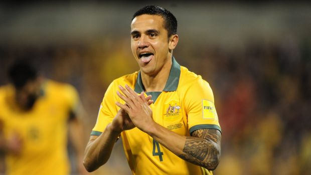 Up for grabs? Socceroo legend Tim Cahill.