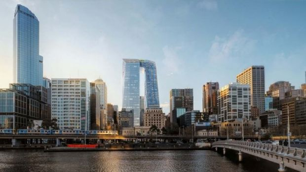 CBUS Property's plan for 447 Collins Street – twin towers connected by a skybridge - has been rejected by the planning ...