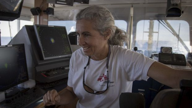 Captain Madeleine Habib goes to the aid of refugees off the coast of Libya in the Medecins Sans Frontieres ship Dignity 1.