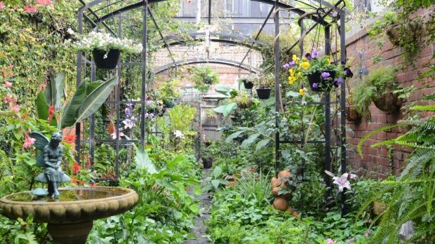 The garden of Wonderwings Fairy shop creator Anne Atkins