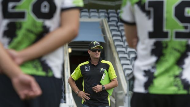 Former Test batsman Mark Waugh at Manuka Oval.